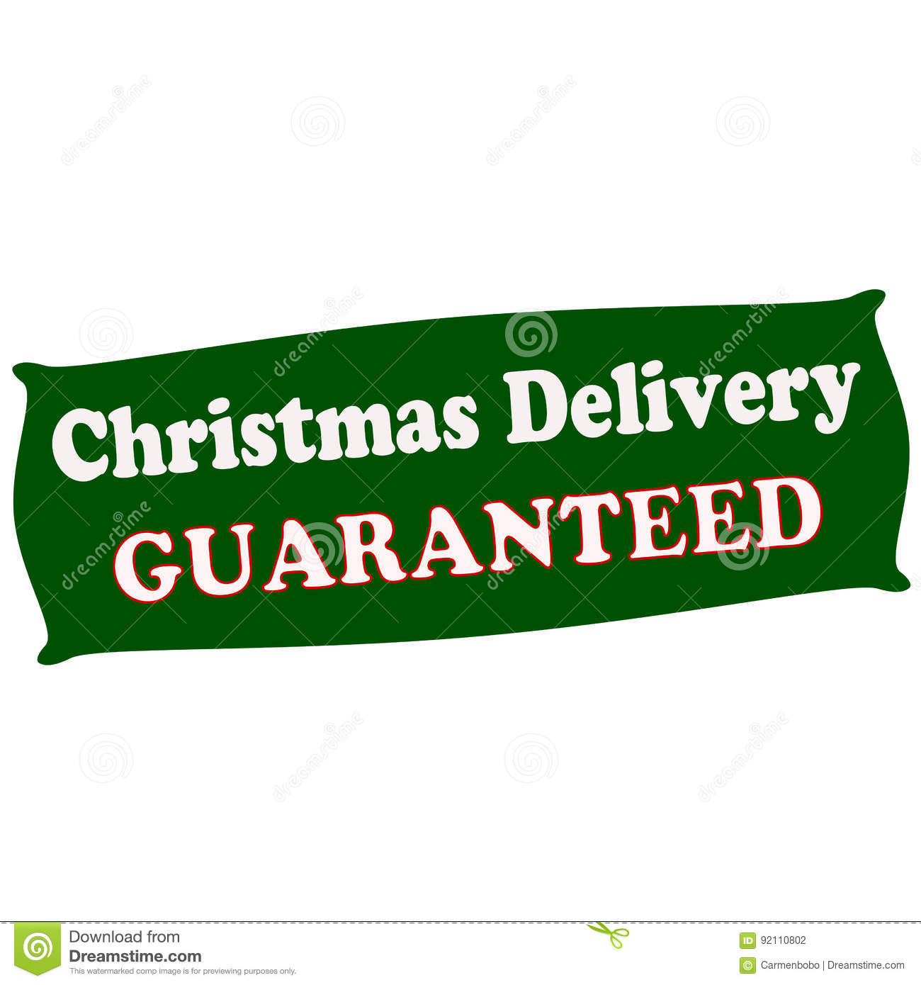 Delivery Christmas Guaranteed Stock Illustration - Image: 92110802