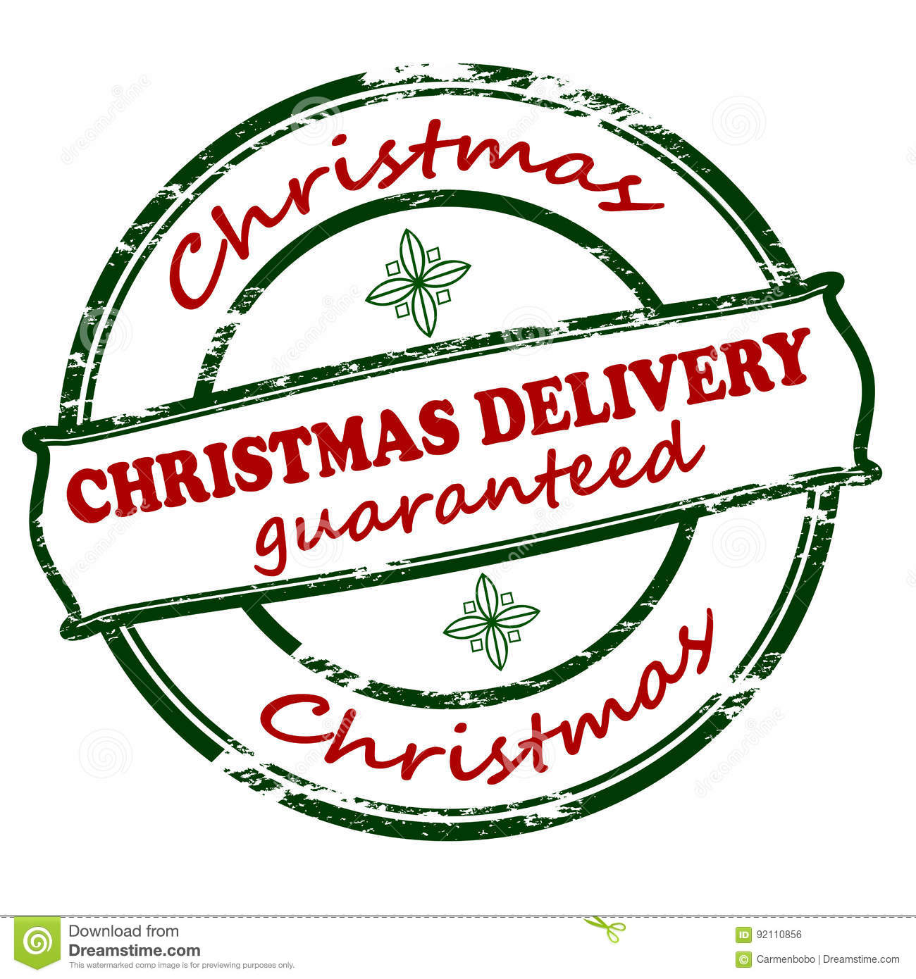 Delivery Christmas Guaranteed Stock Illustration - Image: 92110856