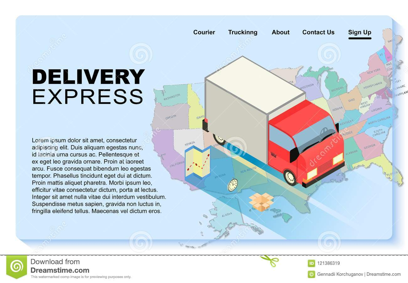 Delivery express concept  stock vector  Illustration of