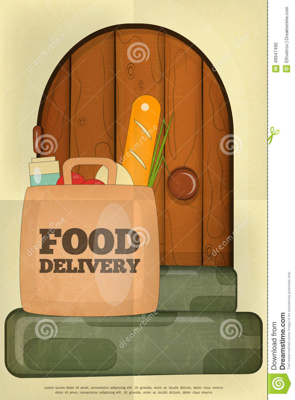 Delivery Stock Vector - Image: 49947490