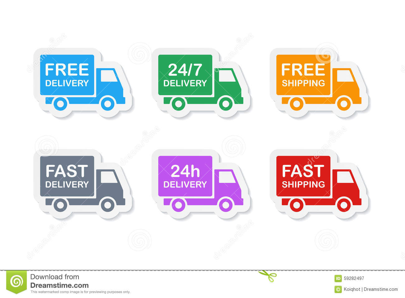 Delivery Icons Stock Vector. Image Of Merchandise, Package