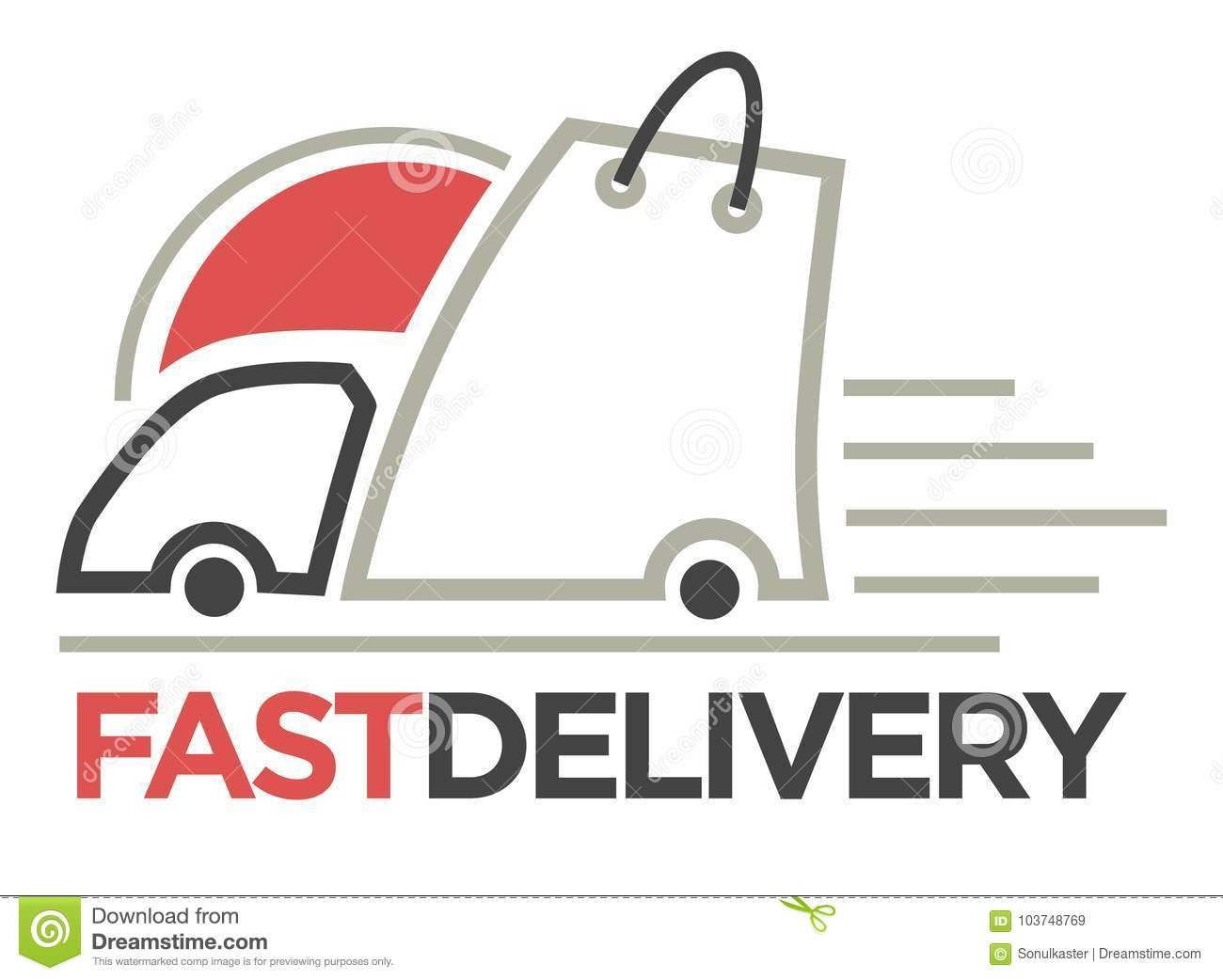 Delivery Logo Template Vector Isolated Icon For Post Mail Stock