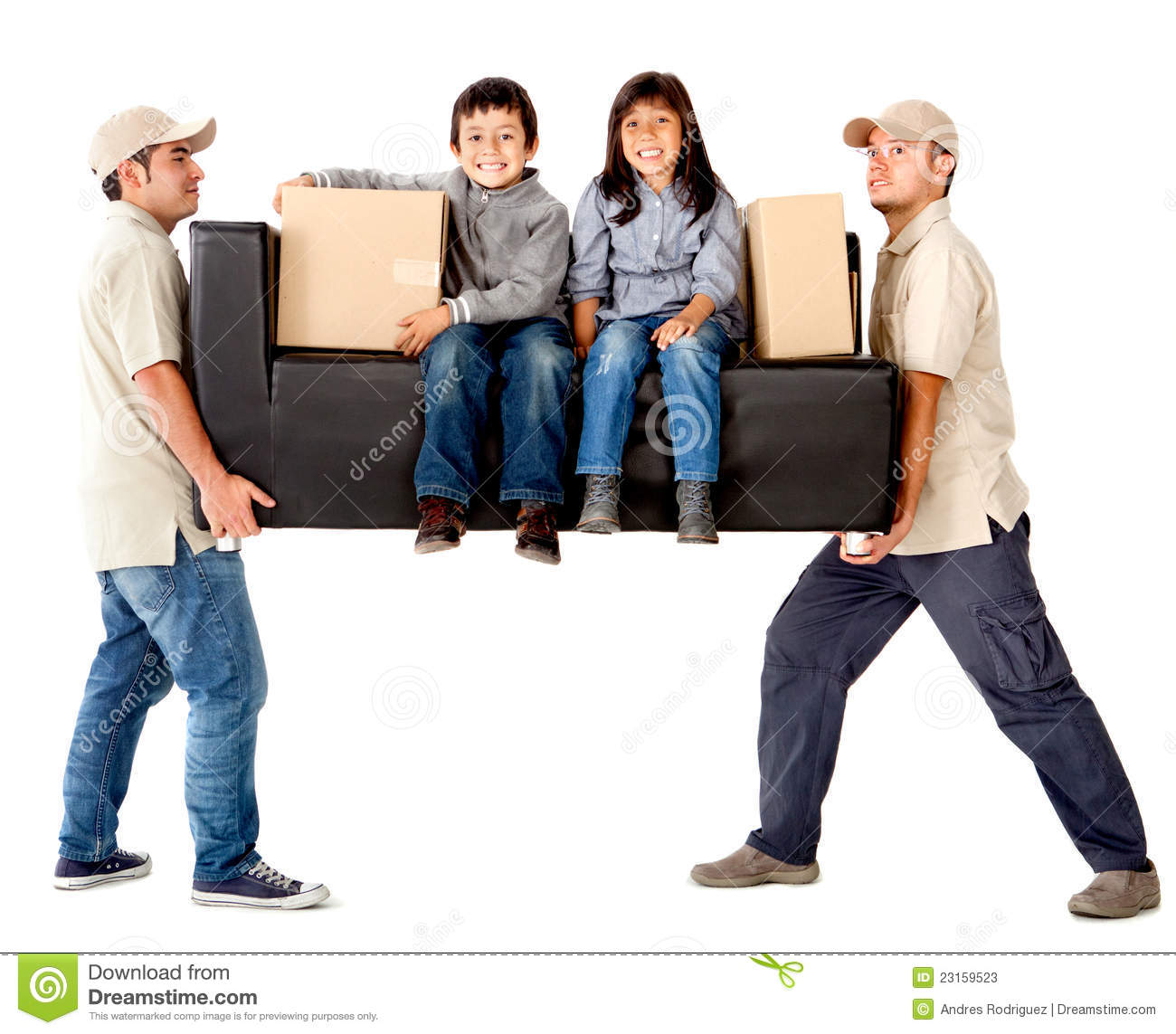 Delivery Men Carrying A Couch Stock Image Image Of