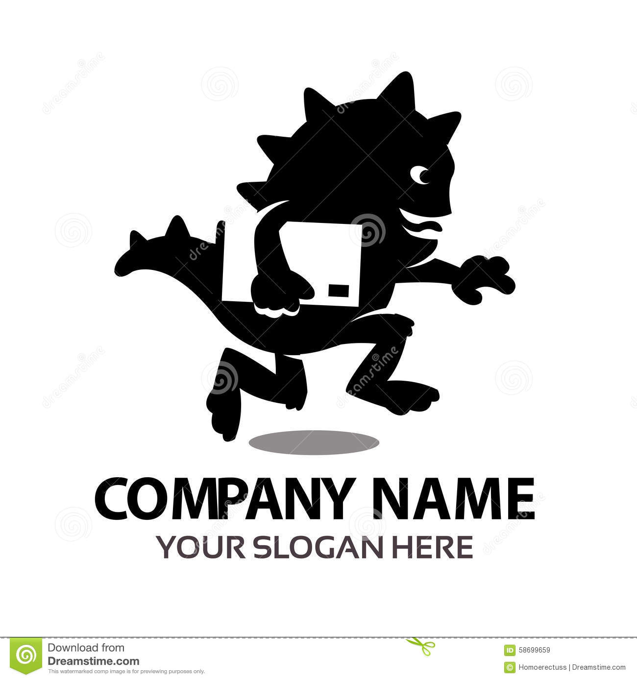 delivery monster logo stock vector illustration of express 58699659