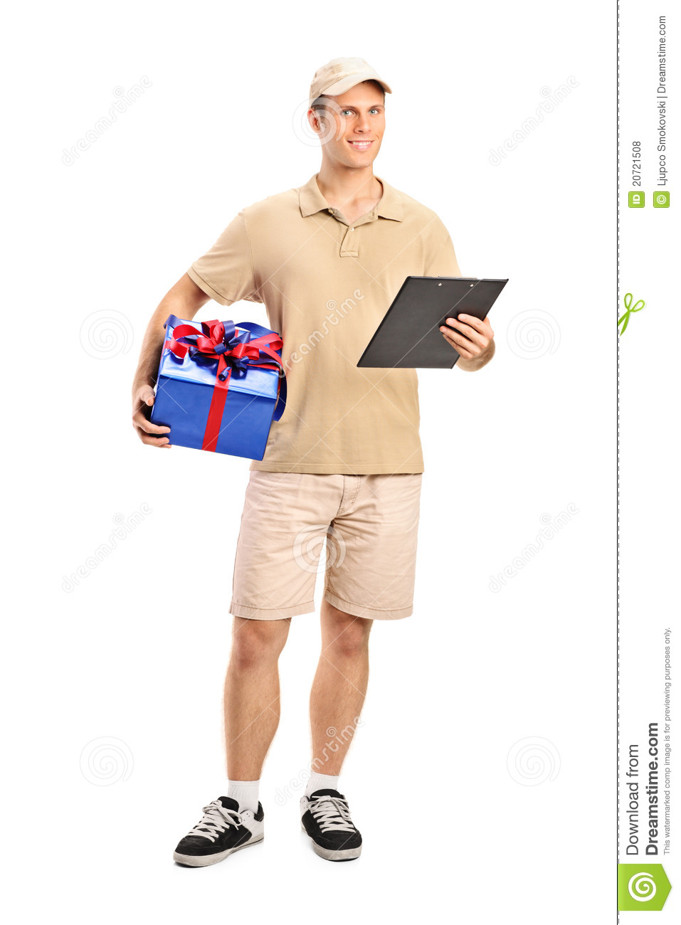 Delivery Person Delivering A Gift Royalty Free Stock Photos ...