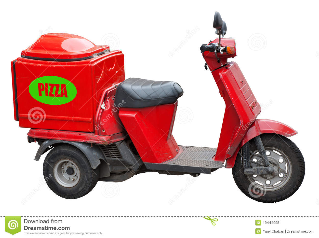how to carry a pizza on a motorcycle