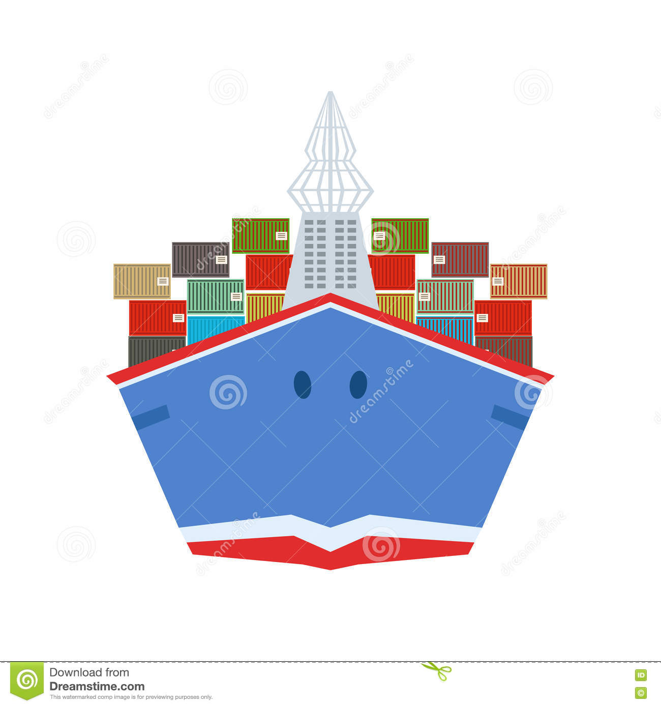 Delivery Service Company Large Cargo Ship Delivering ...