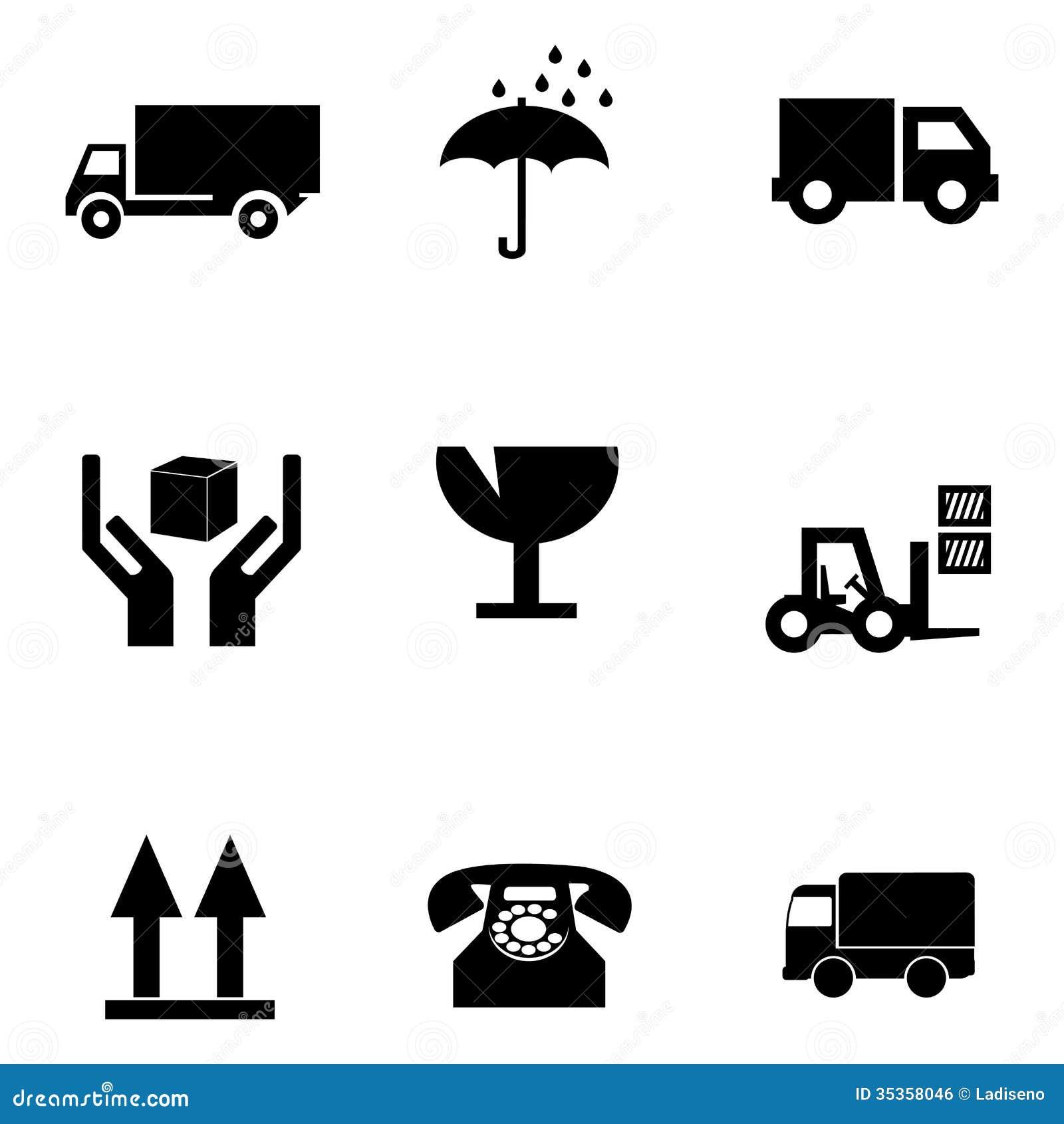 Truck Symbols - Delivery Icon, Sticker Stock Photo - Image: 36294550