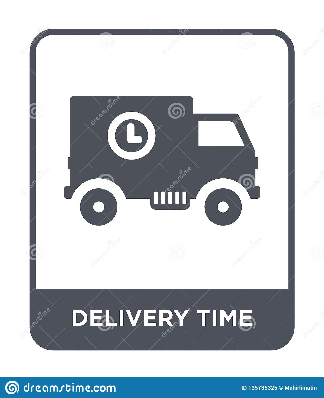 delivery time icon in trendy design style. delivery time icon isolated on white background. delivery time vector icon simple and