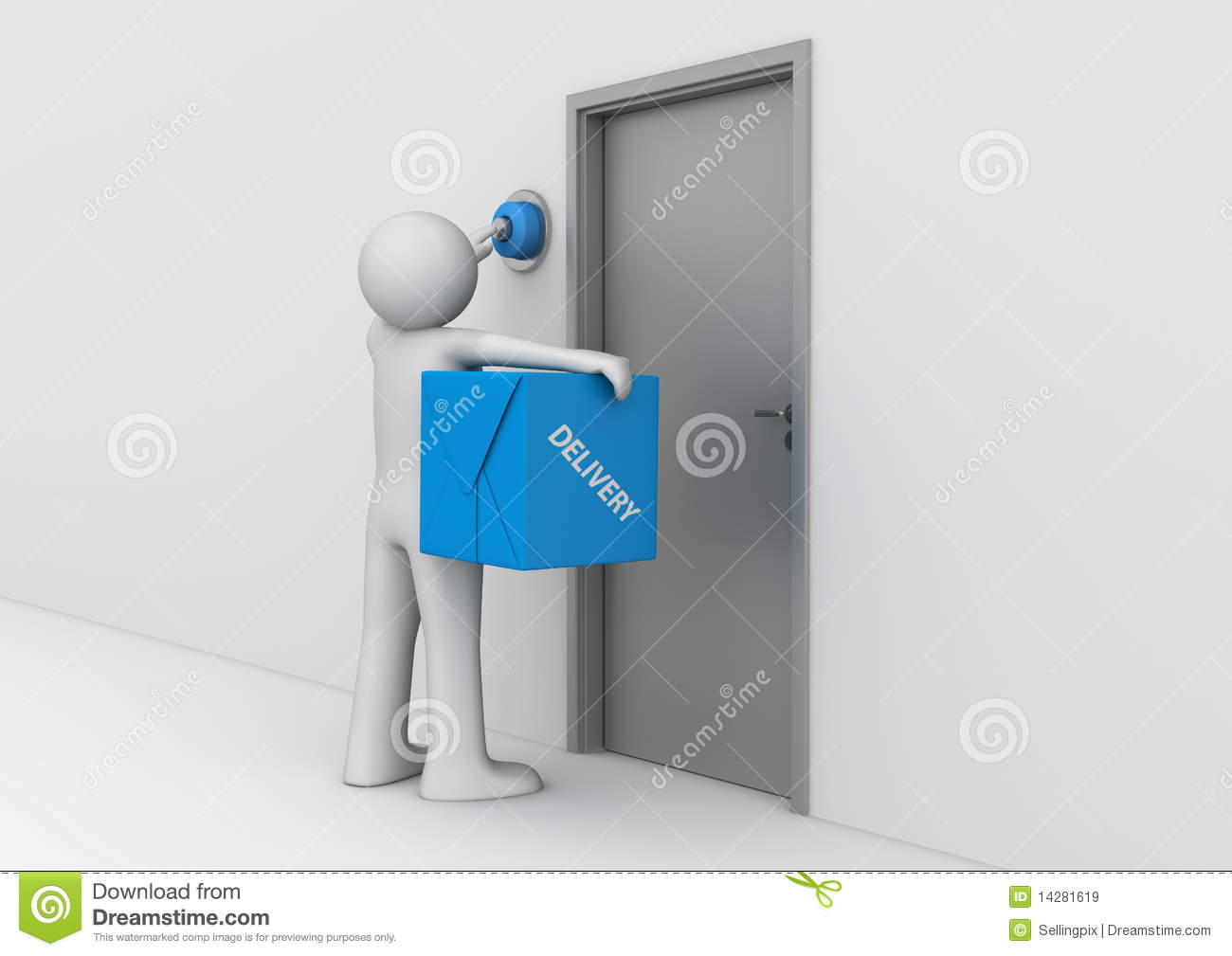 background delivery door ... & Delivery To The Door Royalty Free Stock Images - Image: 14281619 Pezcame.Com