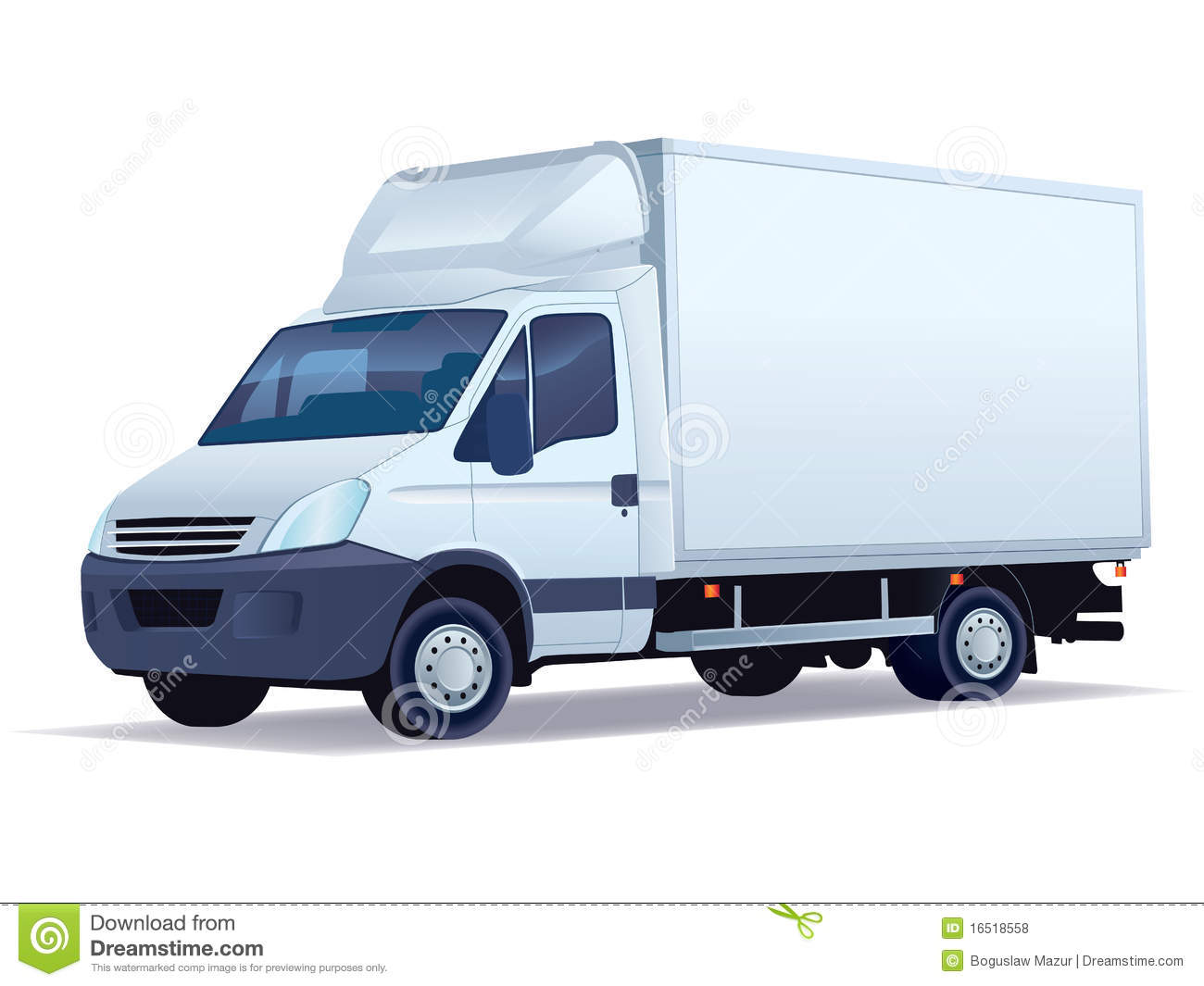 Delivery Truck Royalty Free Stock Photos - Image: 16518558