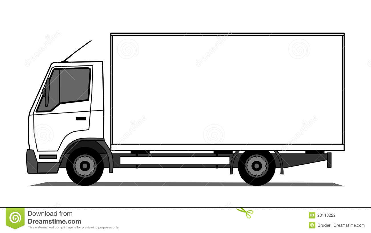 Delivery truck stock vector. Illustration of deliver ...