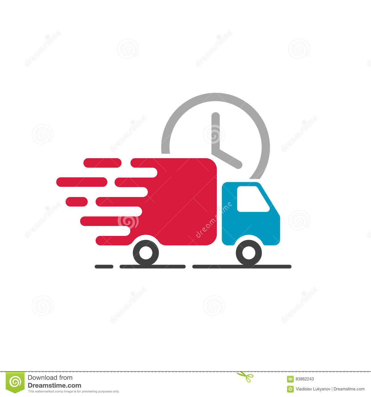 Shipping Delivery: Delivery Truck Icon Vector, Cargo Van Moving, Fast