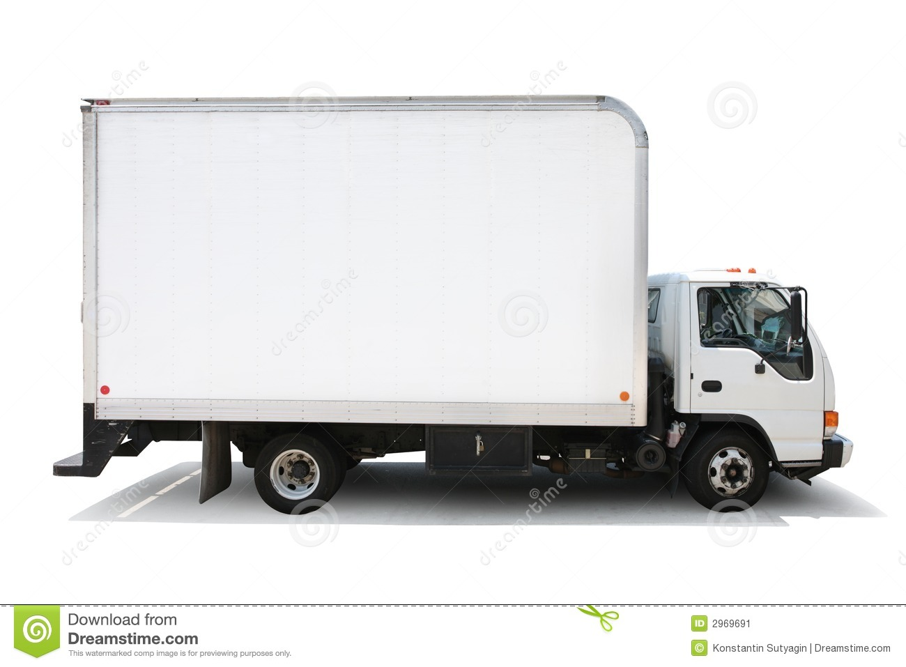 Delivery Truck Isolated White Stock Image Image 2969691