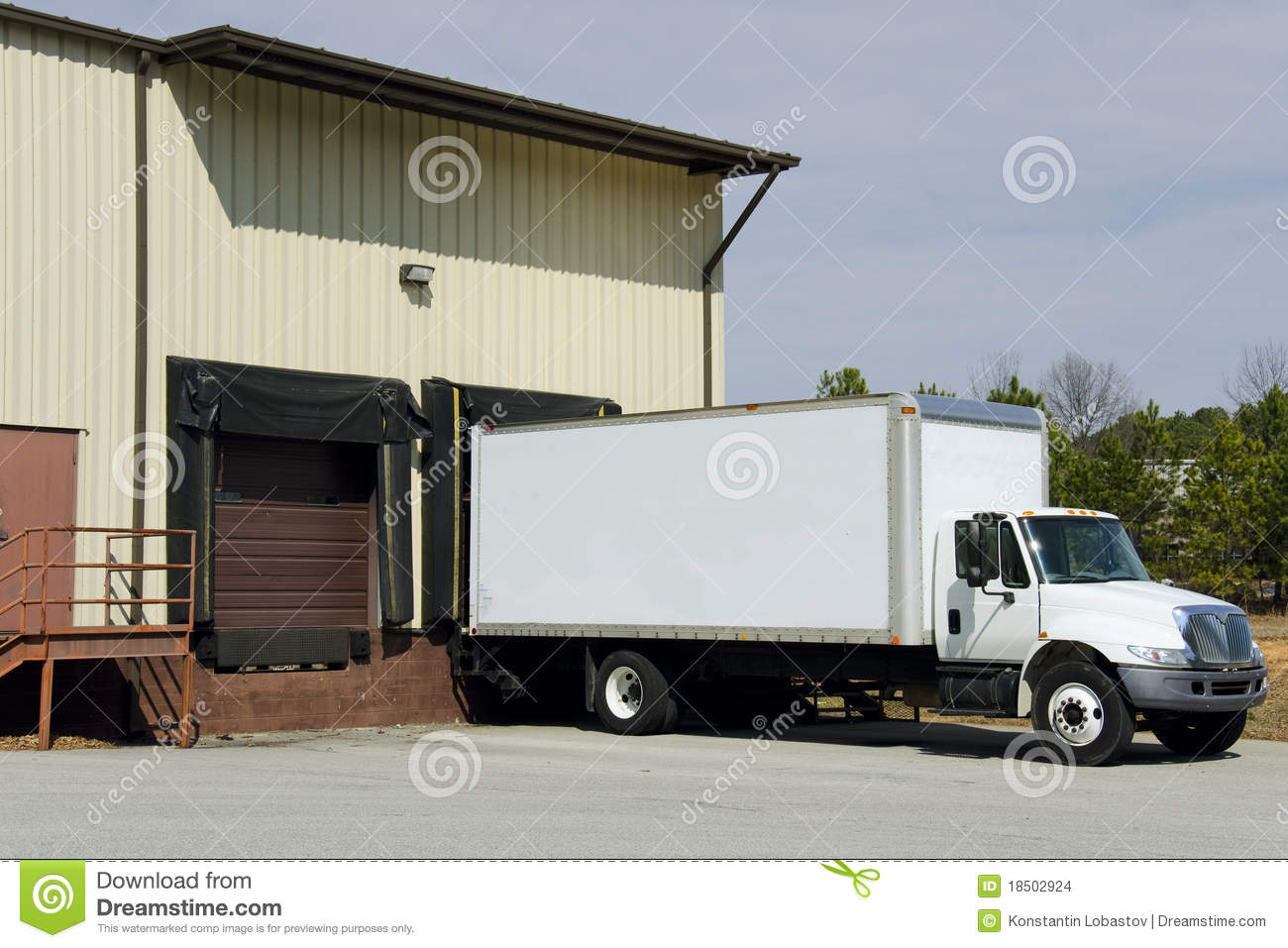 Delivery Truck At Loading Dock Stock Photo Image 18502924