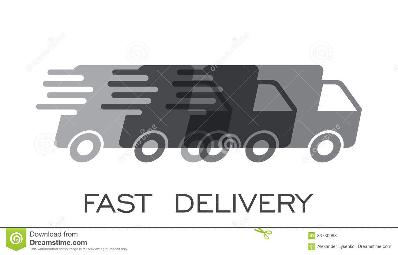 Delivery Truck Logo Vector Illustration. Fast Delivery
