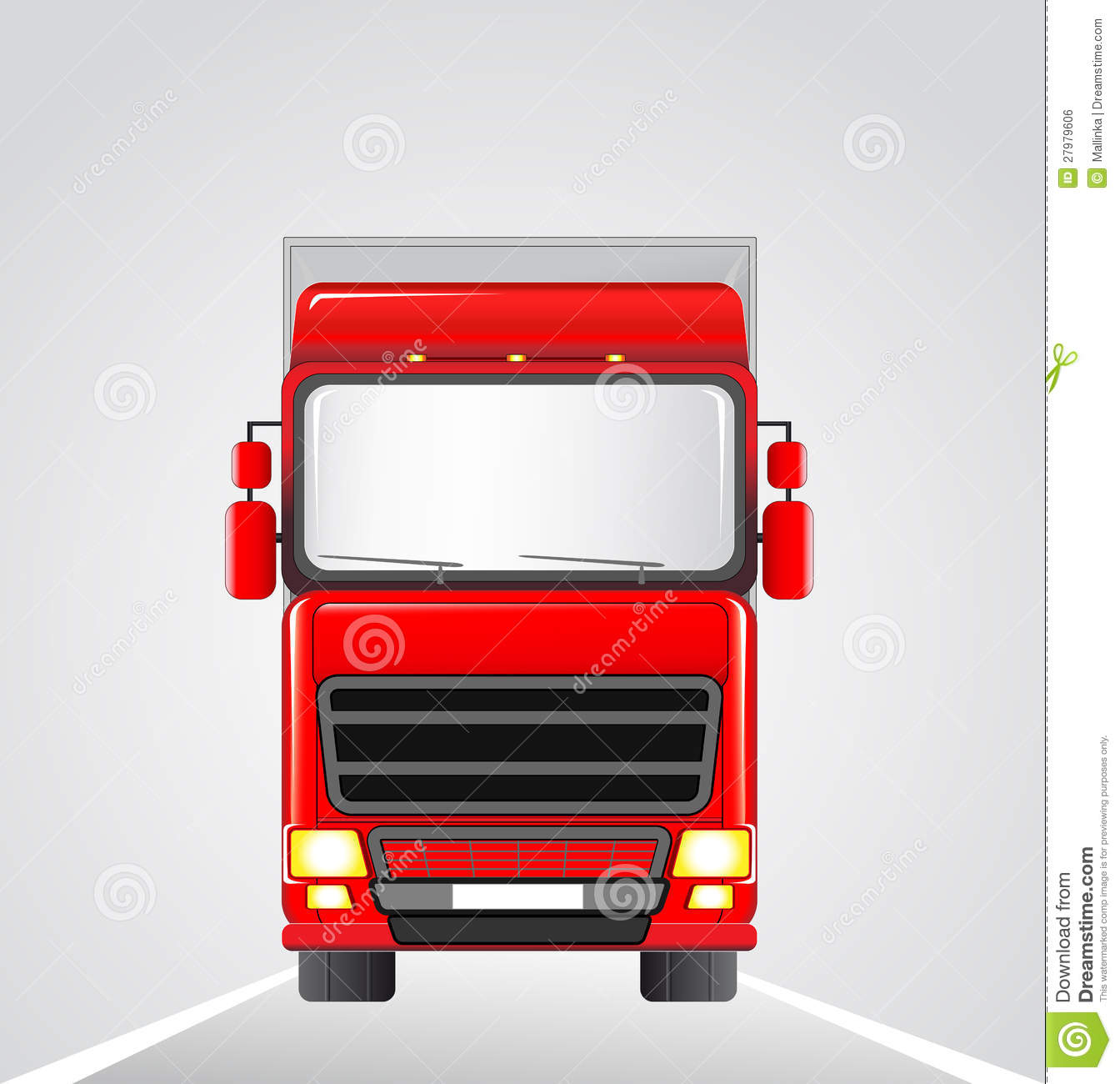 Delivery Truck On The Road Royalty Free Stock Image ...
