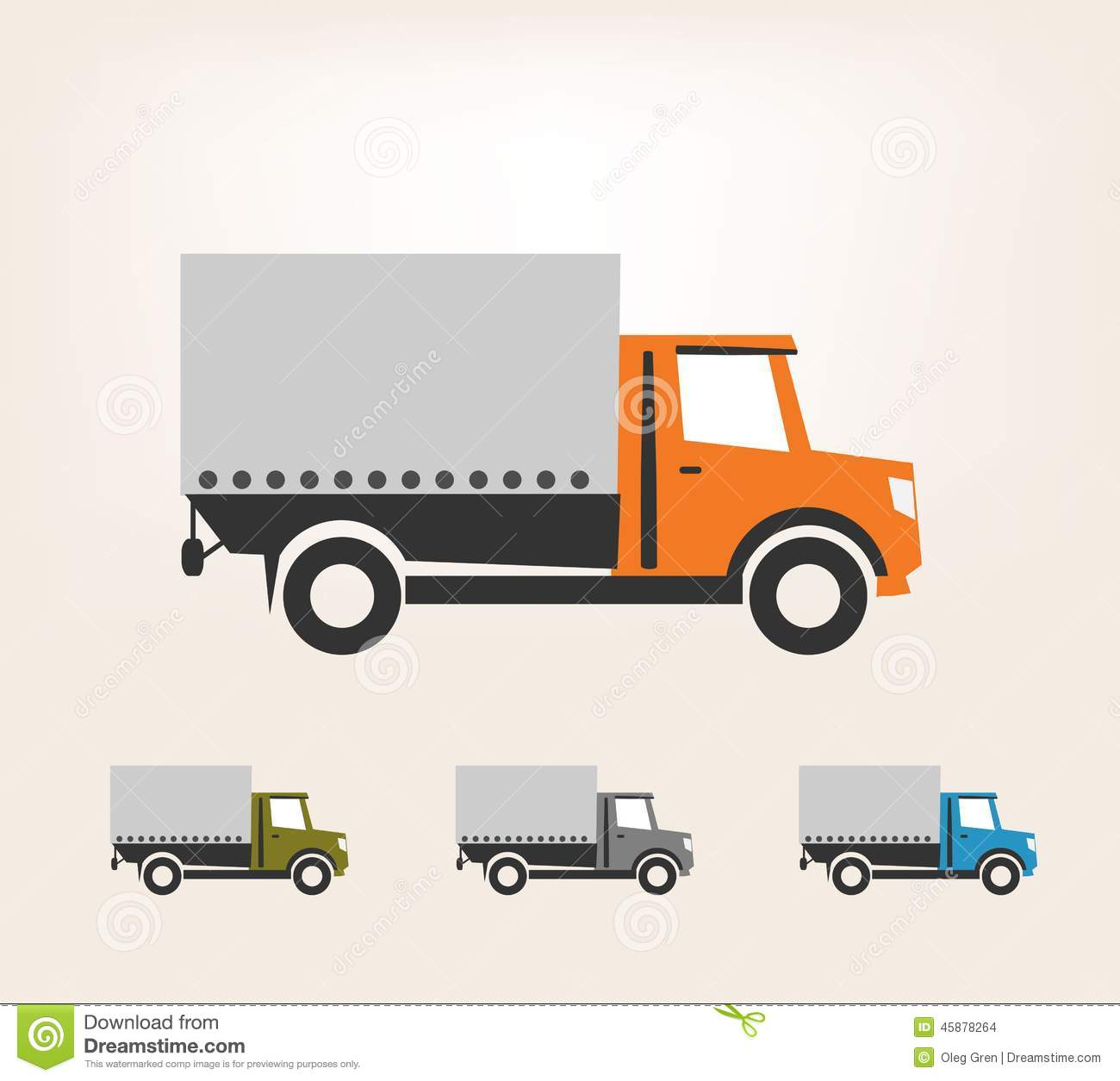 delivery truck stock vector illustration of service
