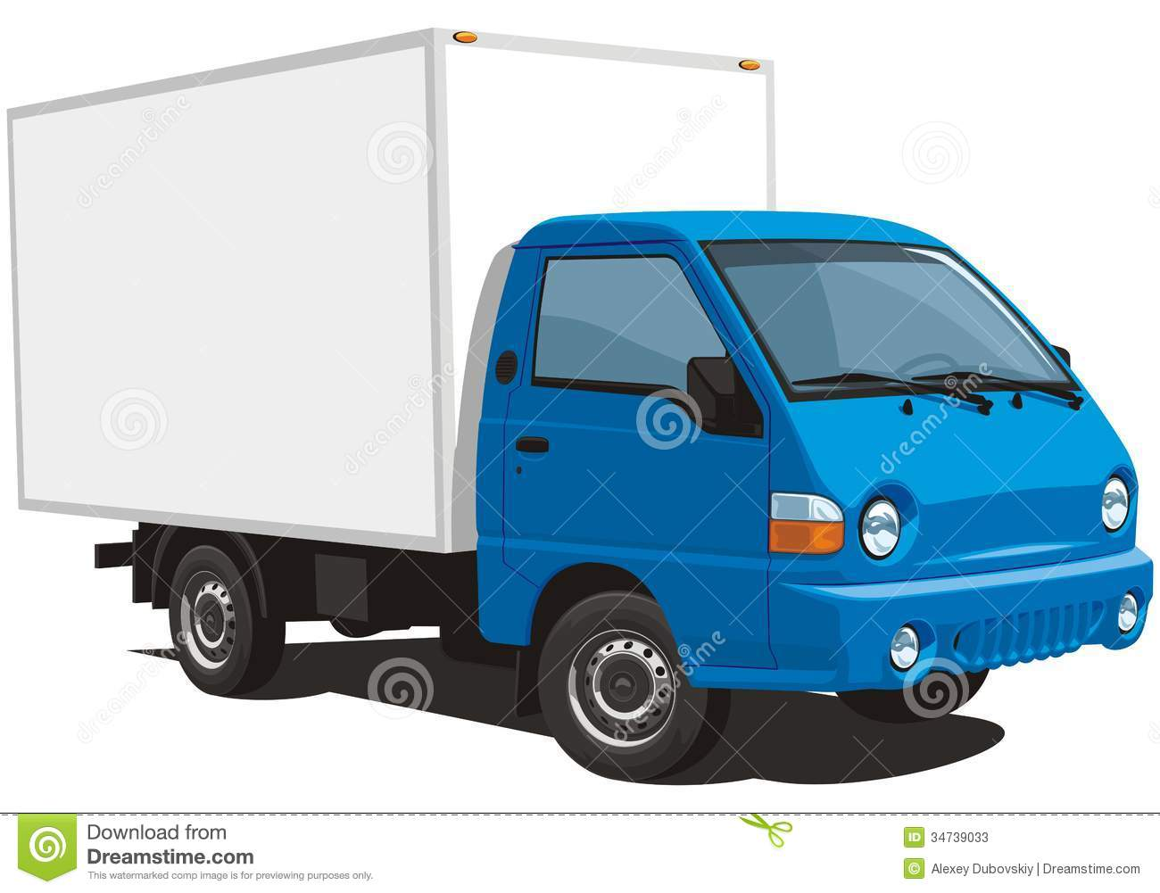 Delivery truck stock vector. Image of blue, deliver ...