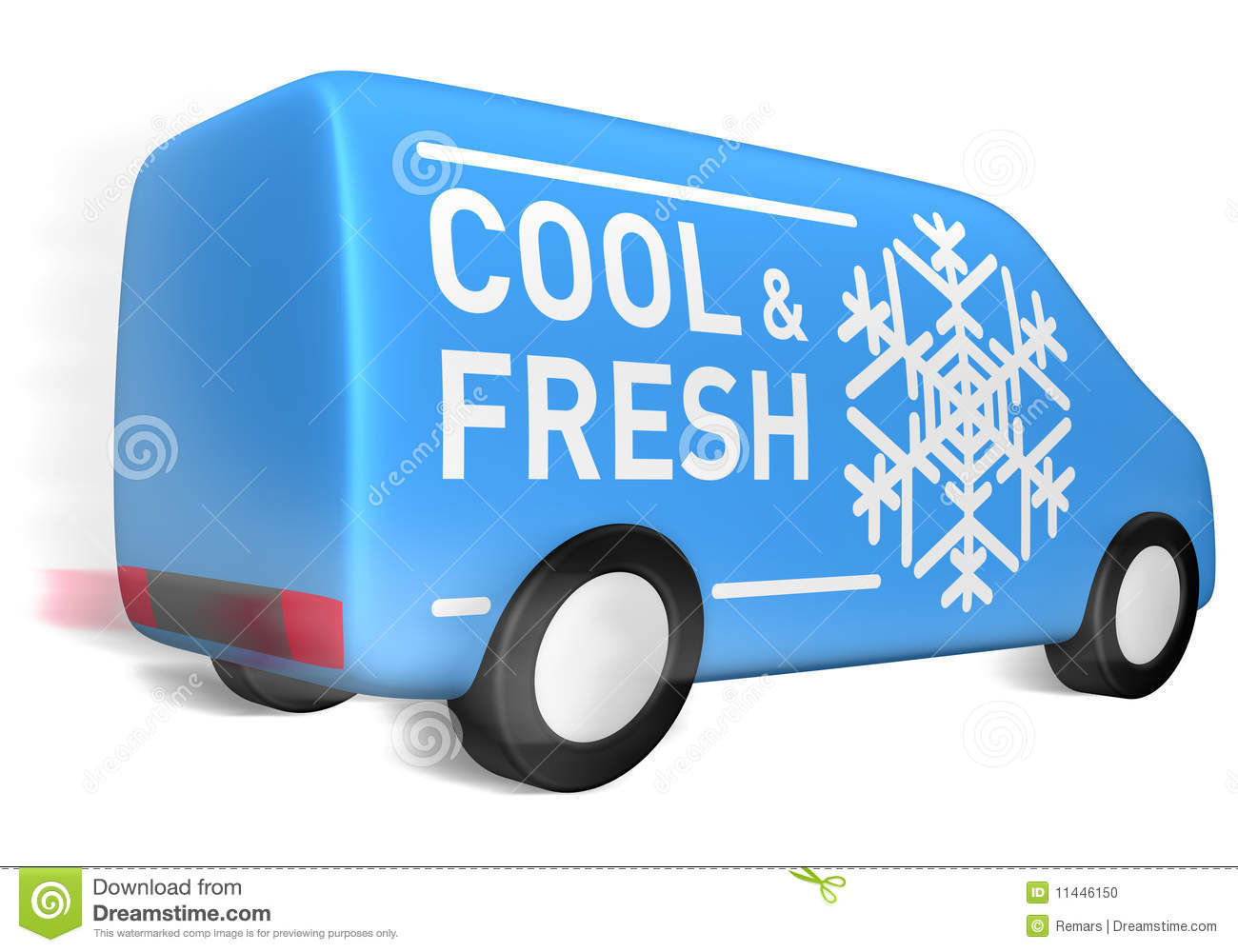 Delivery Van Cool And Fresh Stock Photo