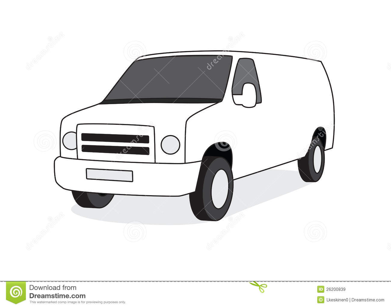 Delivery Van Front View Illustration Stock Vector ...