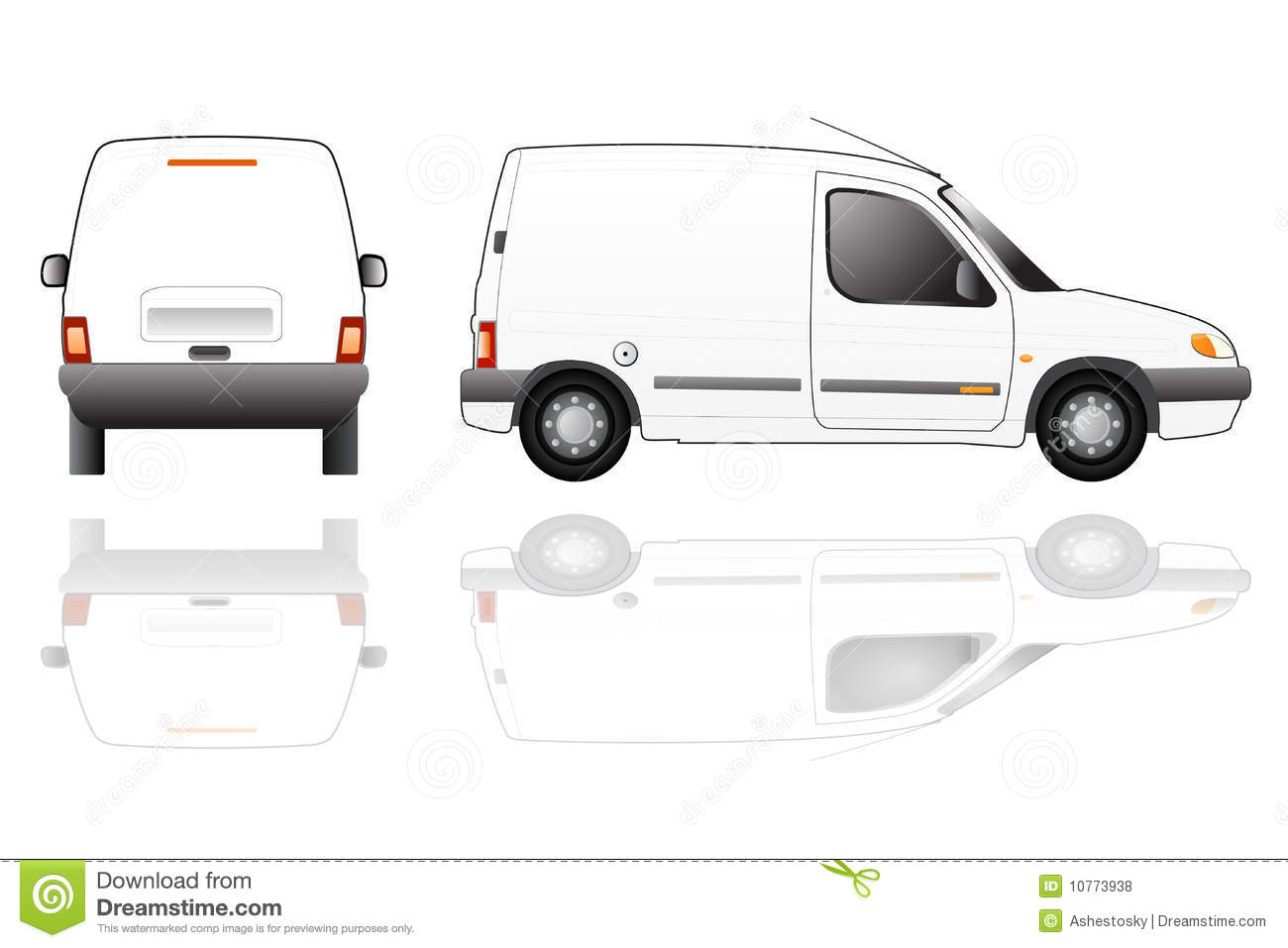 Delivery Van Isolated Vector Royalty Free Stock Photos ...