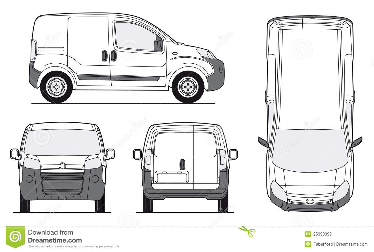 Delivery Van Template - Vector Royalty Free Stock Images - Image ...