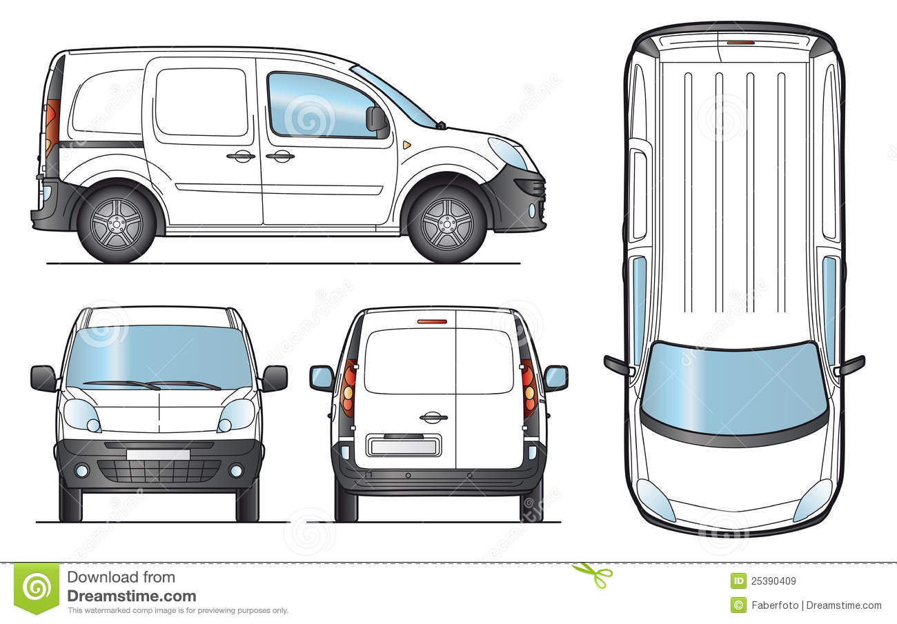 Delivery Van Template Vector Royalty Free Stock Images