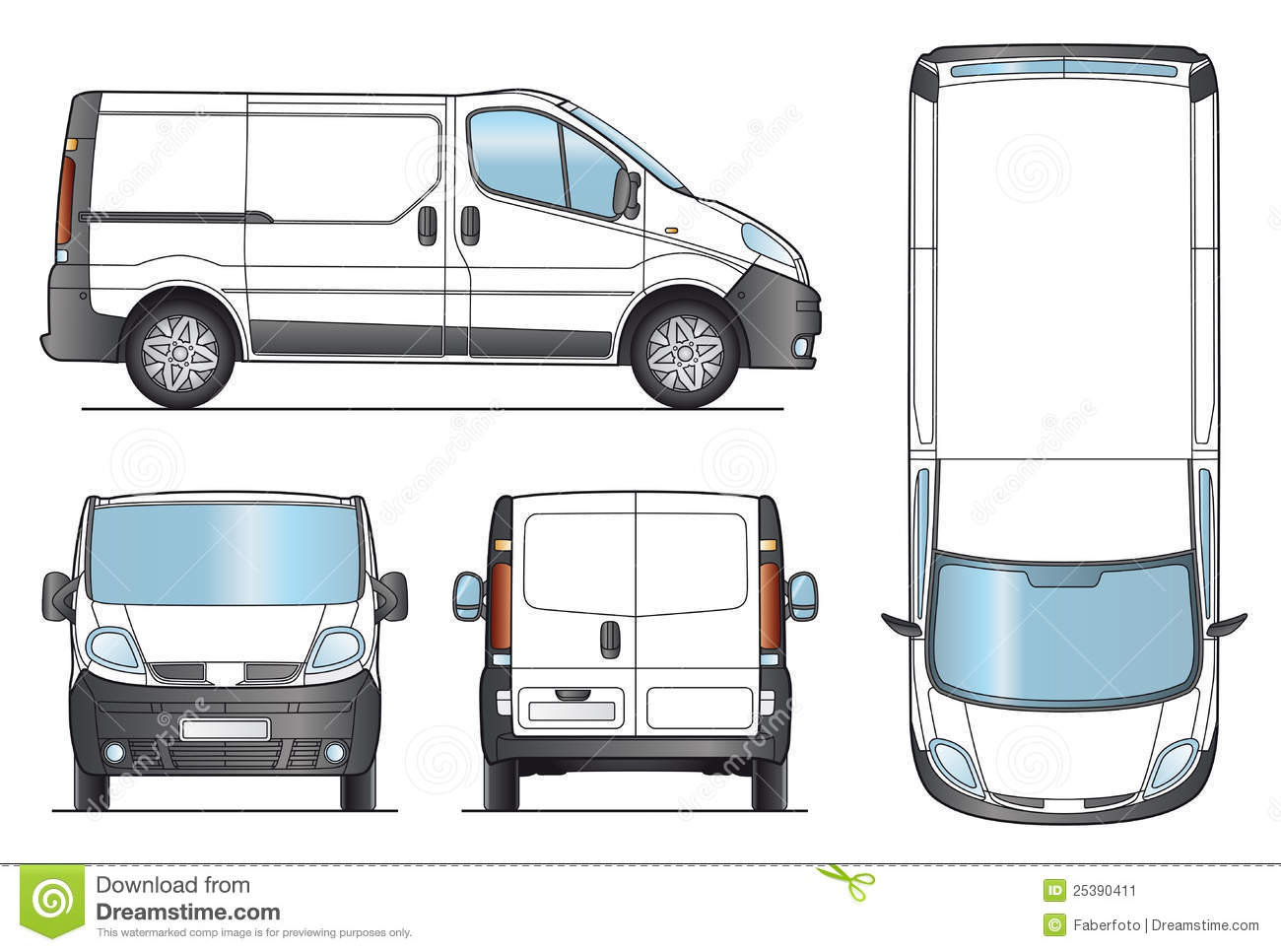 Delivery Van Template - Vector Stock Vector - Image: 25390411