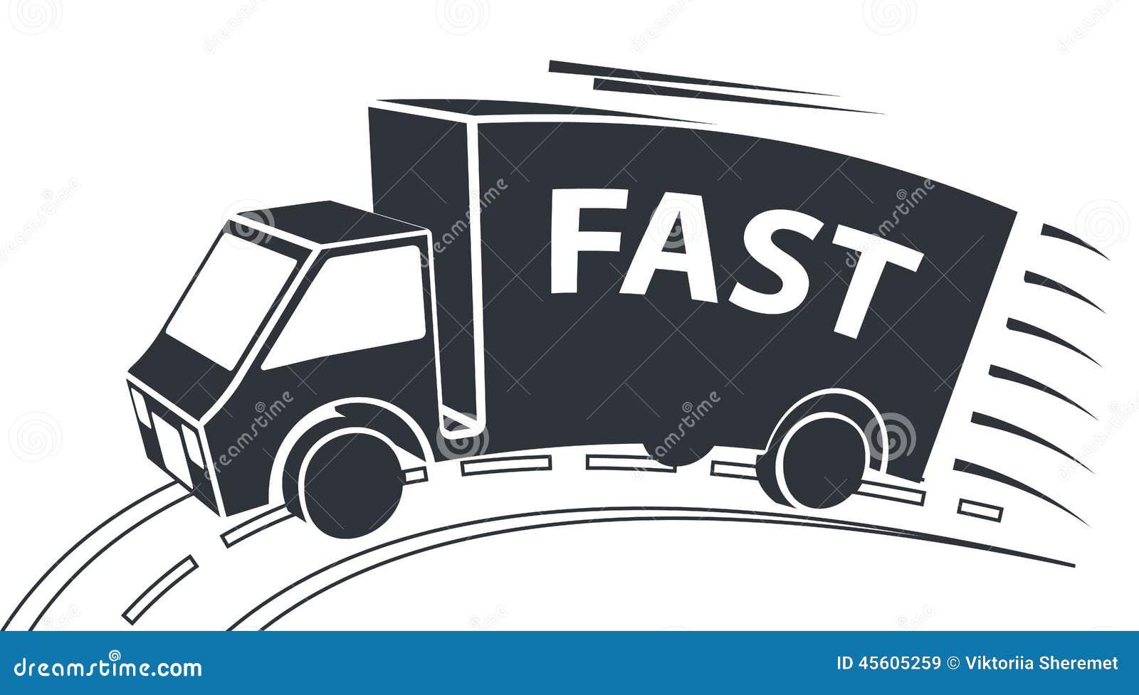 Delivery Van, Vector Illustration Stock Vector