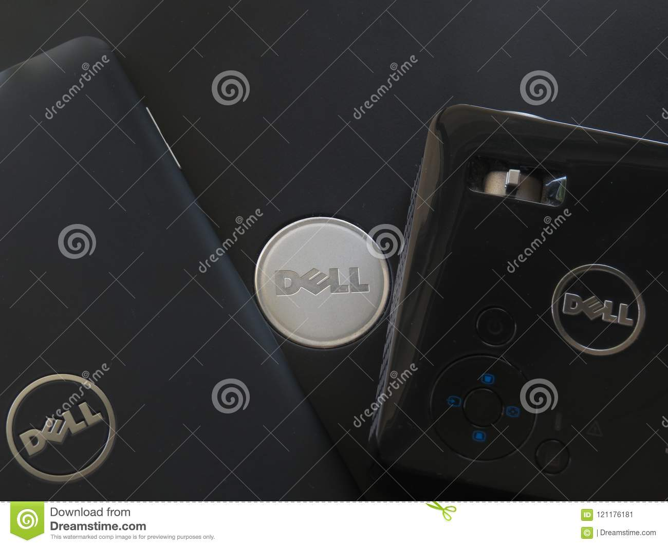 Dell Computer Products With Prominent Logo Editorial Photo Image