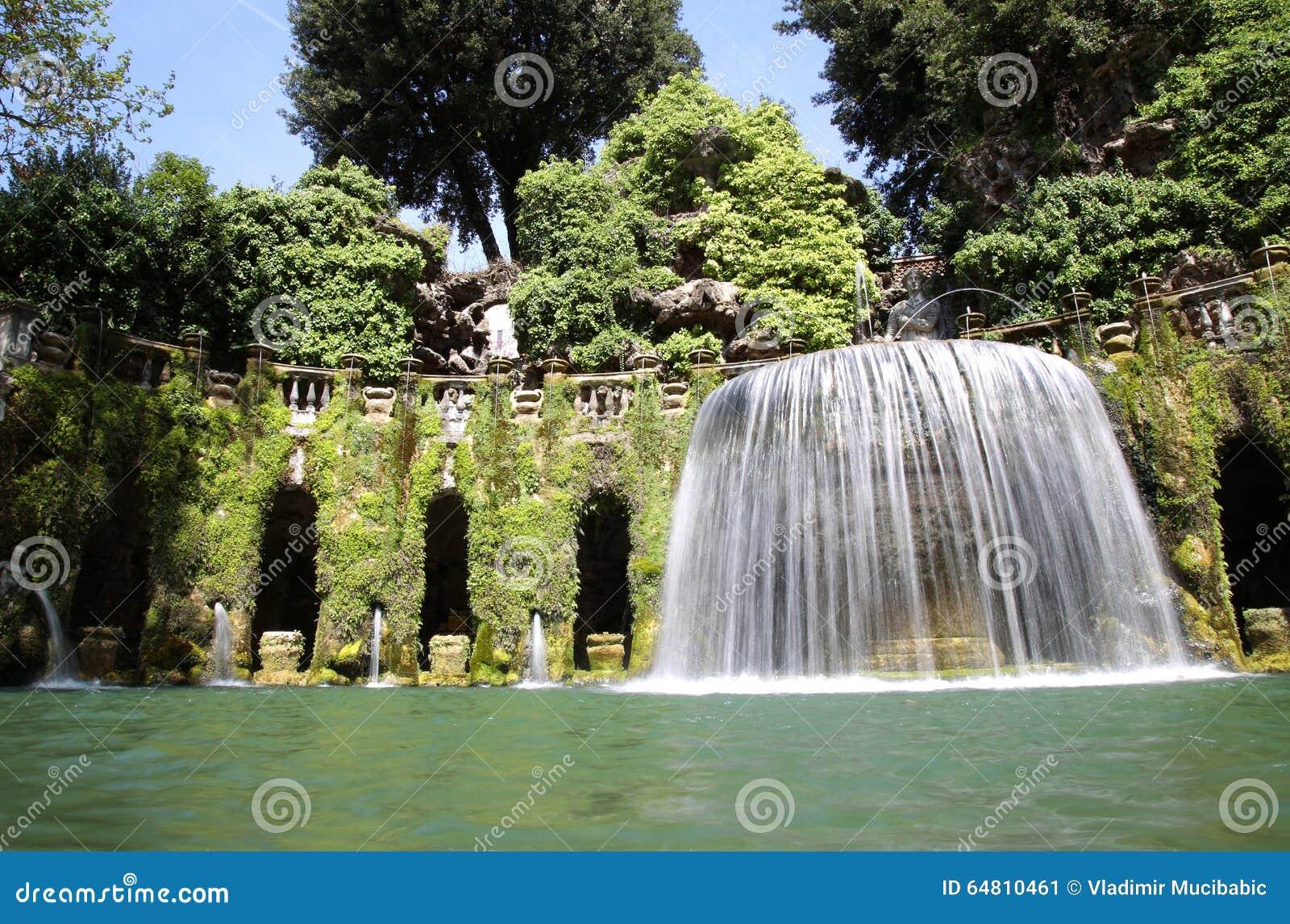 Dell 39 ovato de fontana fontaine et jardin d 39 este de de for Cafres este jardin
