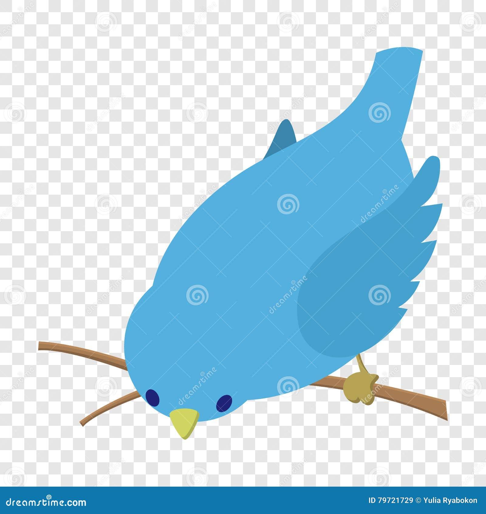 Della curvatura illustrazione blu dell uccello giù