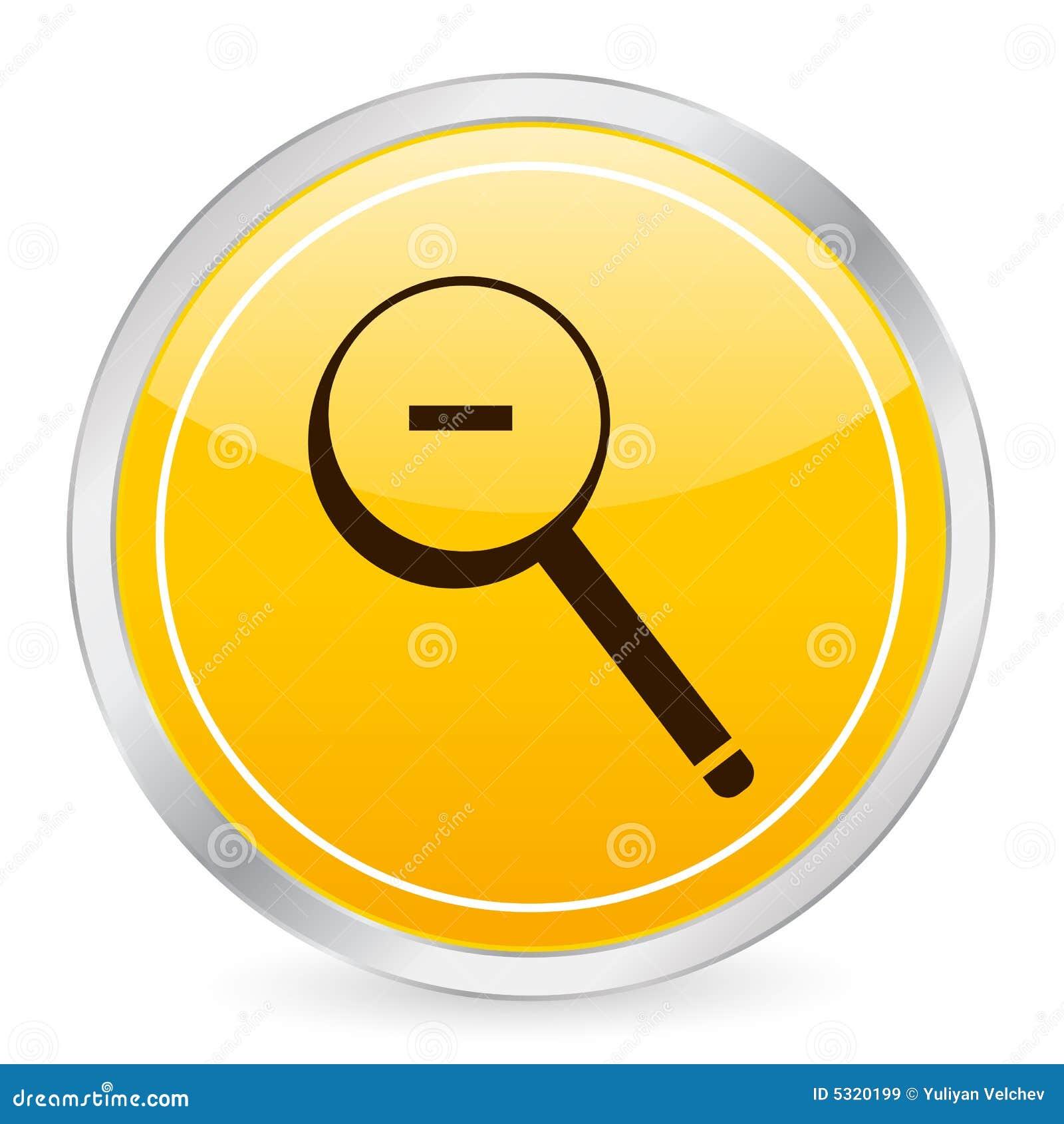 Download Dello Zoom Icona Gialla Del Cerchio Fuori Illustrazione Vettoriale - Illustrazione di riflessione, bianco: 5320199