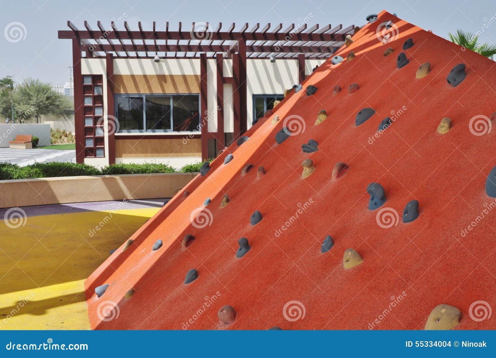Delma Park Orange Artificial Hill Stock Photo Image