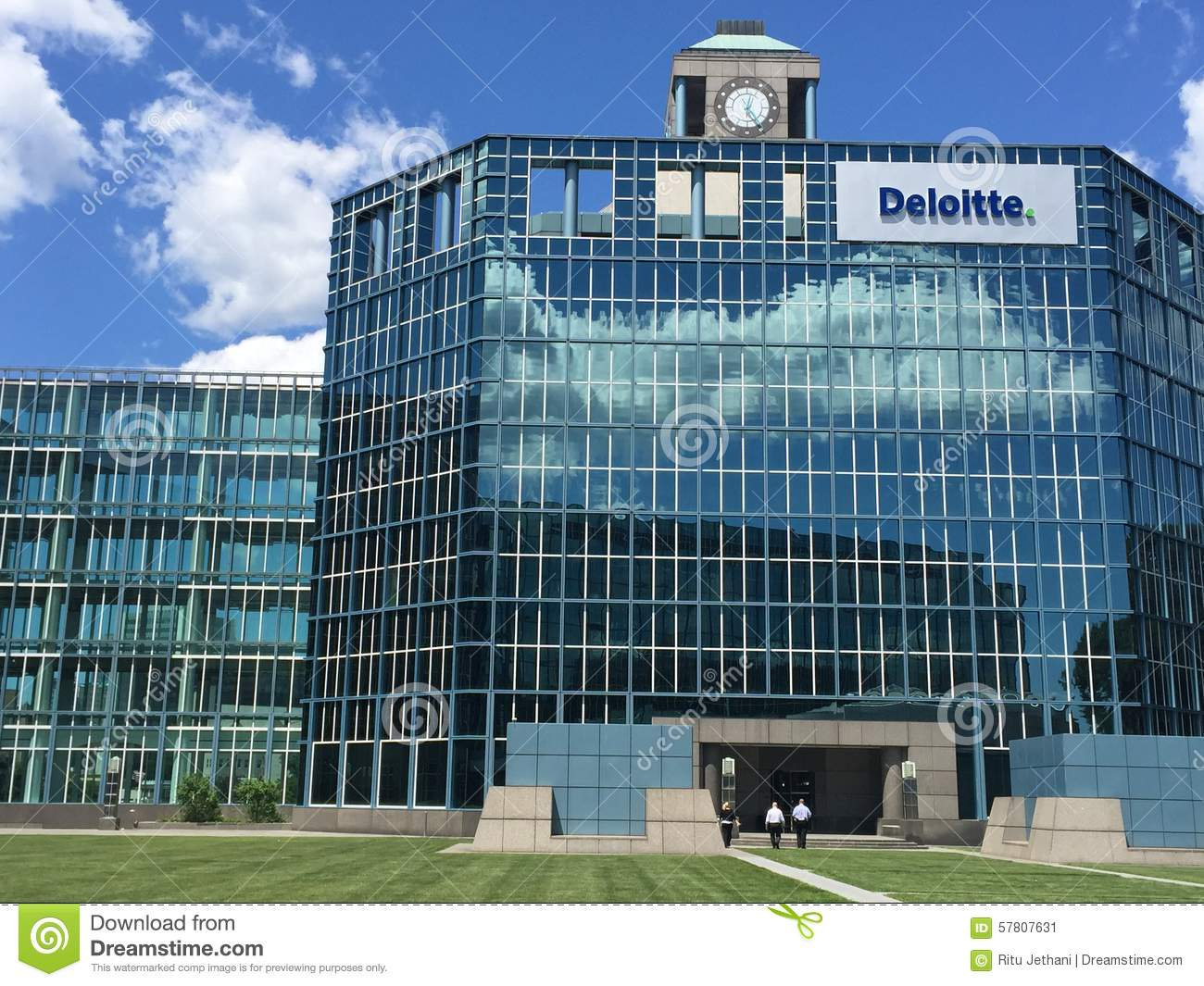 deloitte office in stamford  connecticut editorial photo