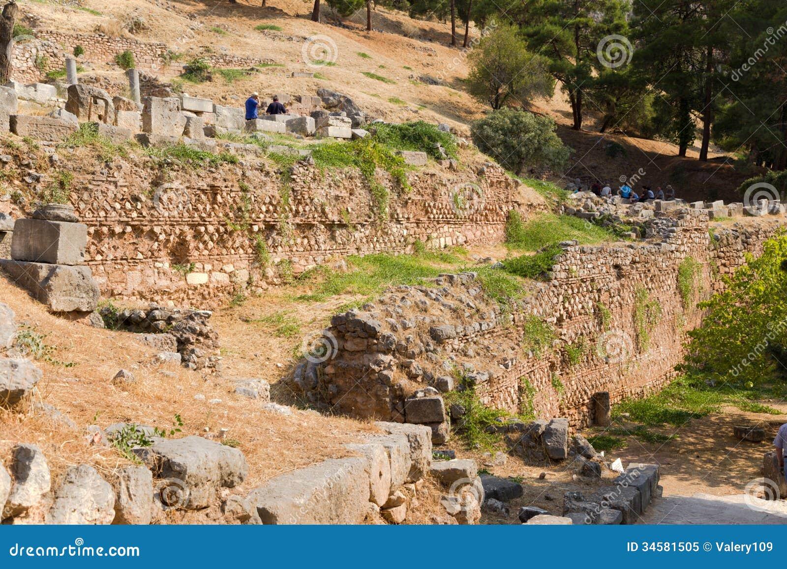 Delphi. Ancient Ruins Royalty Free Stock Photo - Image ...