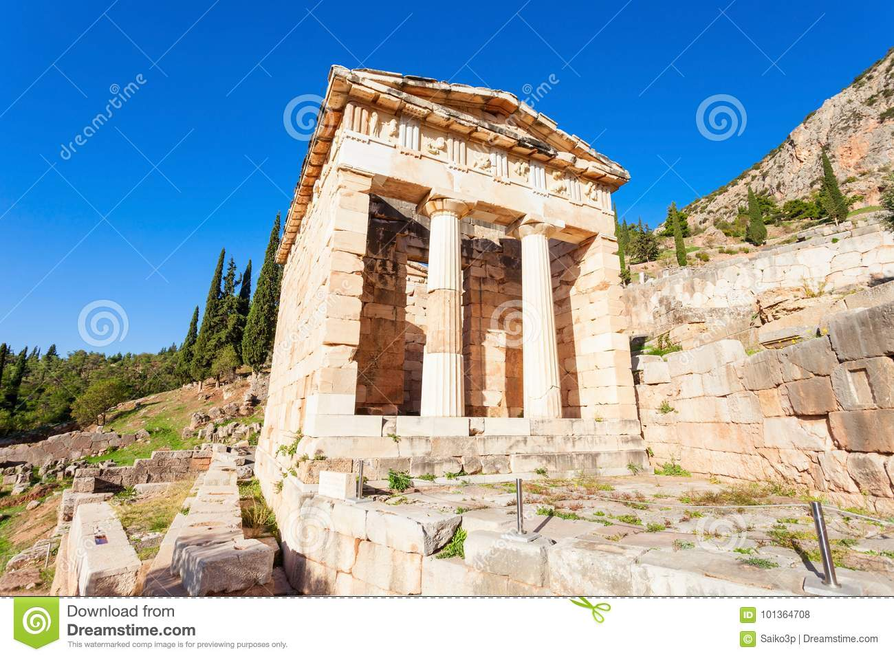 Delphi Ancient Sanctuary Greece Stock Photo Image Of Antique