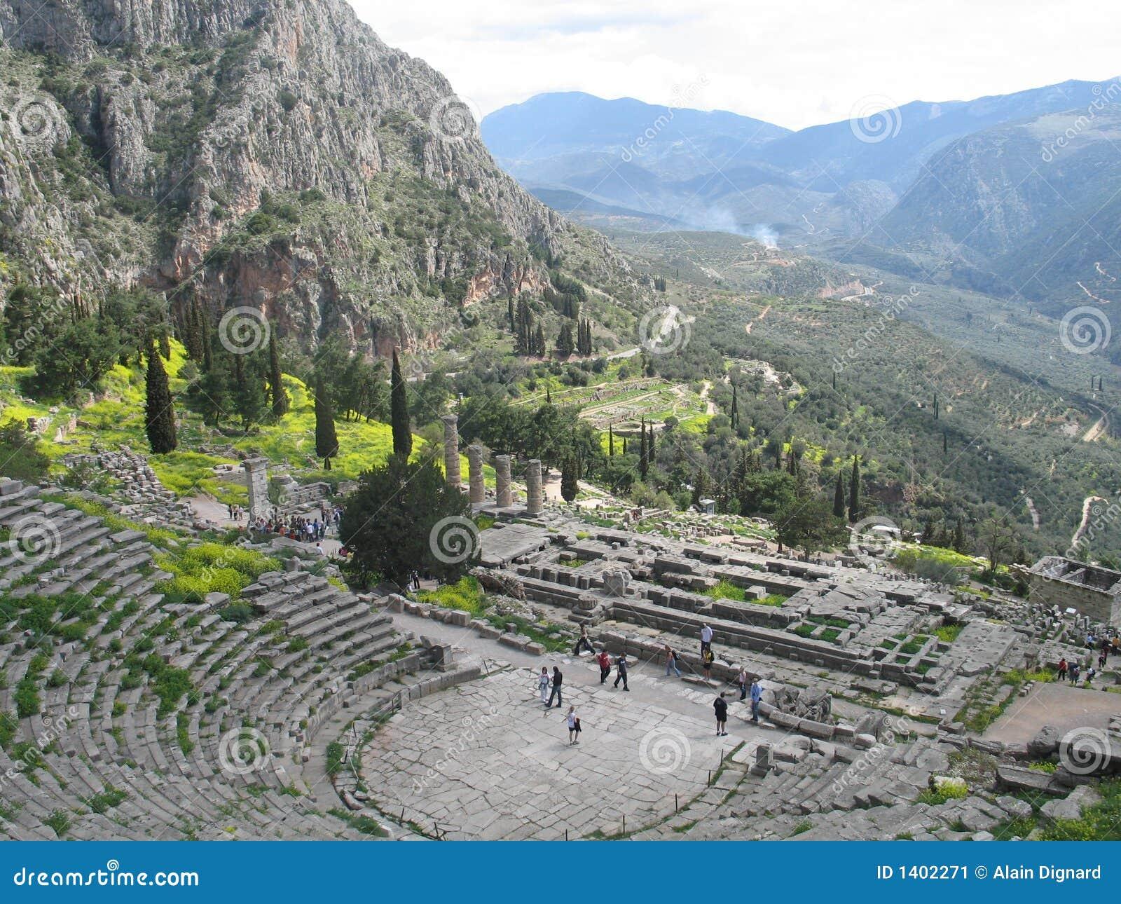 Delphi Greece Stock Image Image 1402271