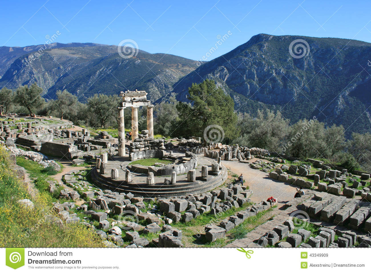 Delphi Greece Stock Photo - Image: 43349909