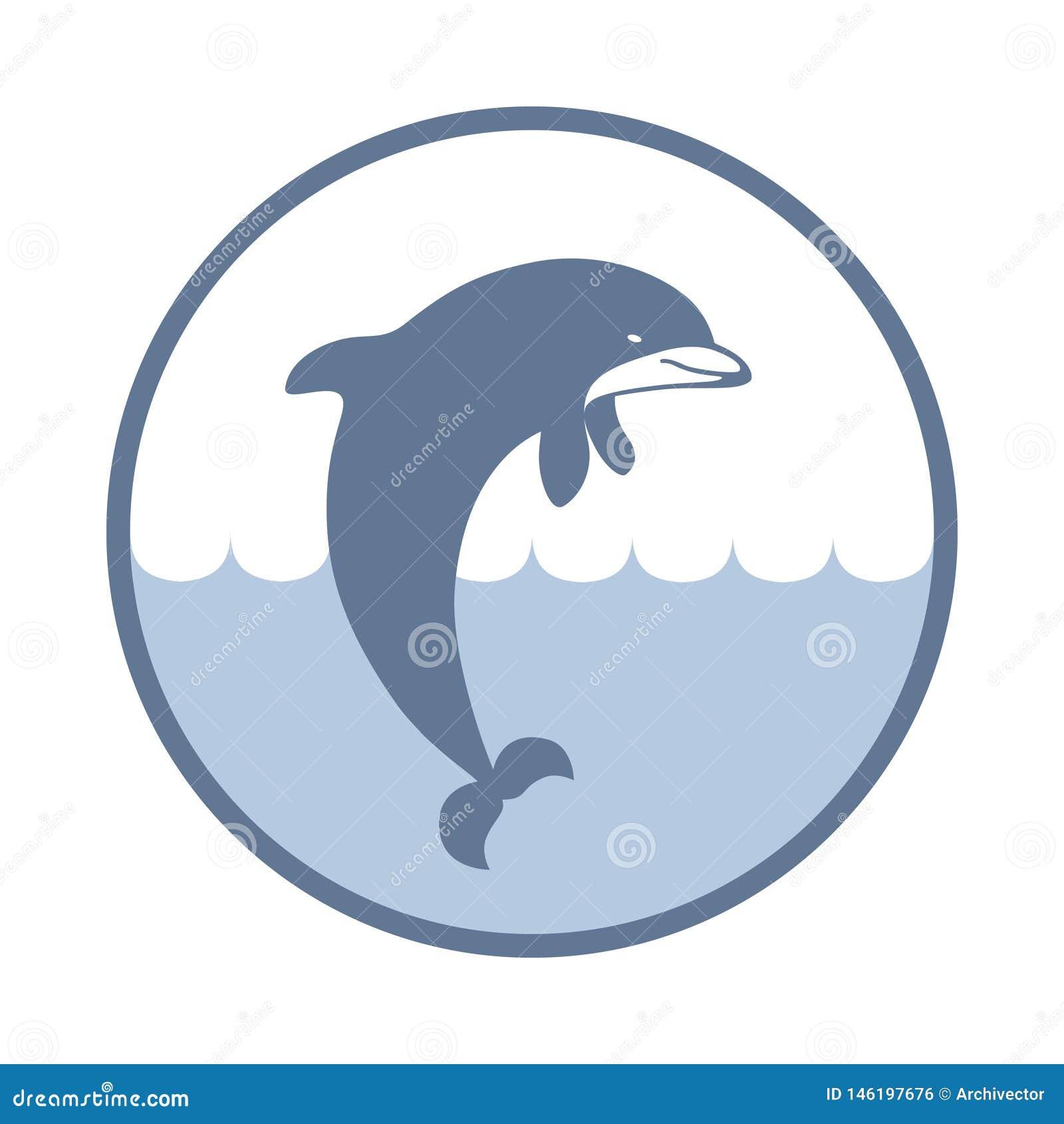 Delphin unterzeichnen herein den Kreis