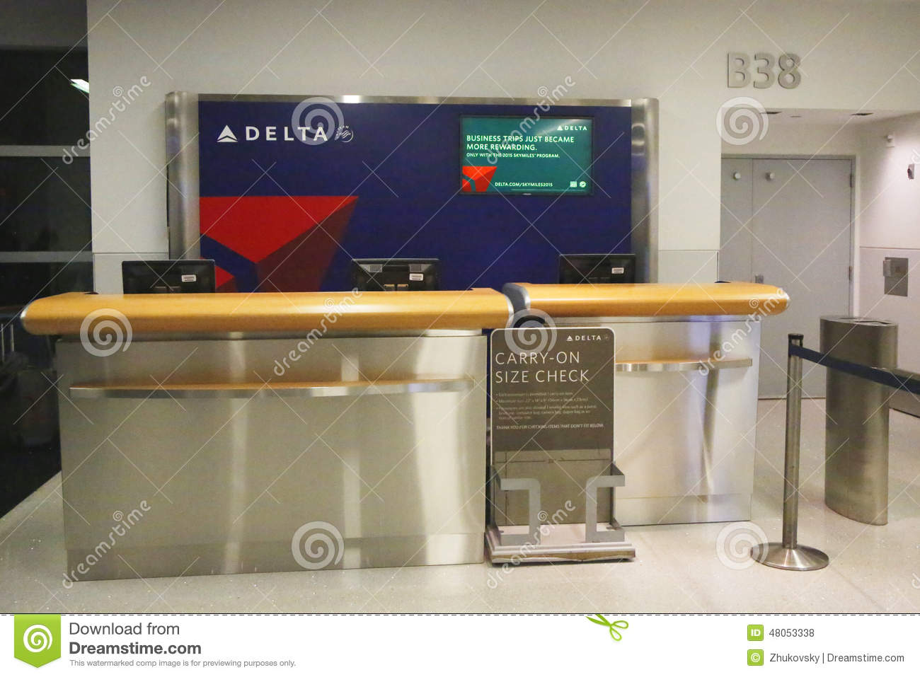 Delta airlines counter at the gate in terminal 4 at john f for International decor gates
