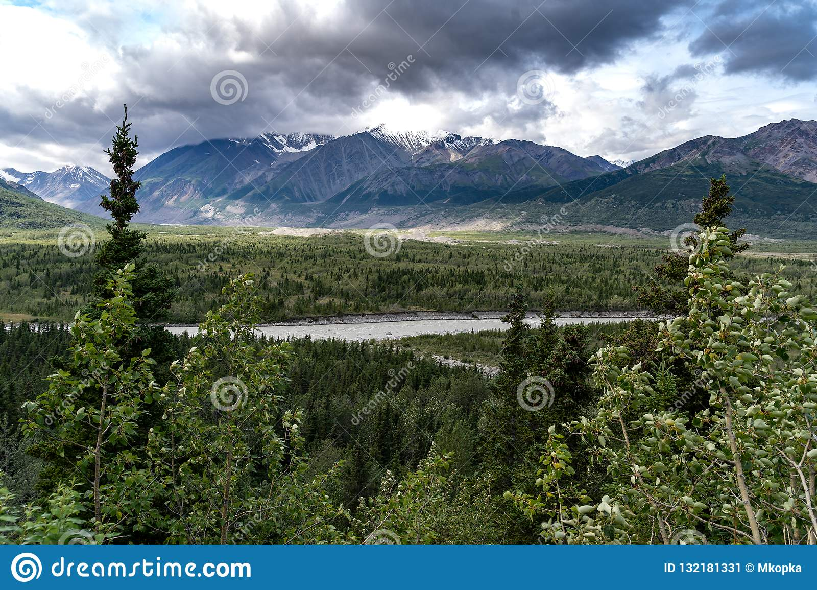 9ffe87990 Delta Mountains In Alaska Along The Richardson Highway In The Summer ...