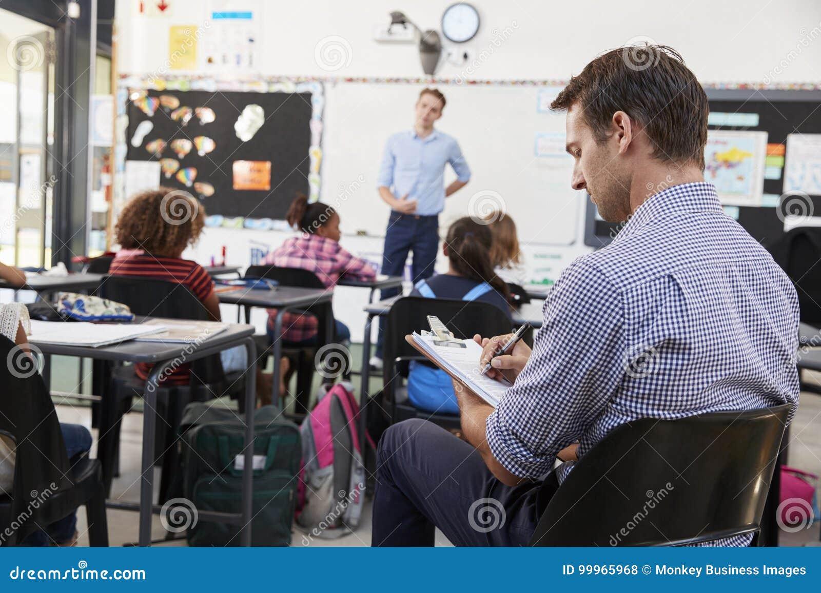 Deltagare i utbildninglärare som lär hur undervisa elementära studenter