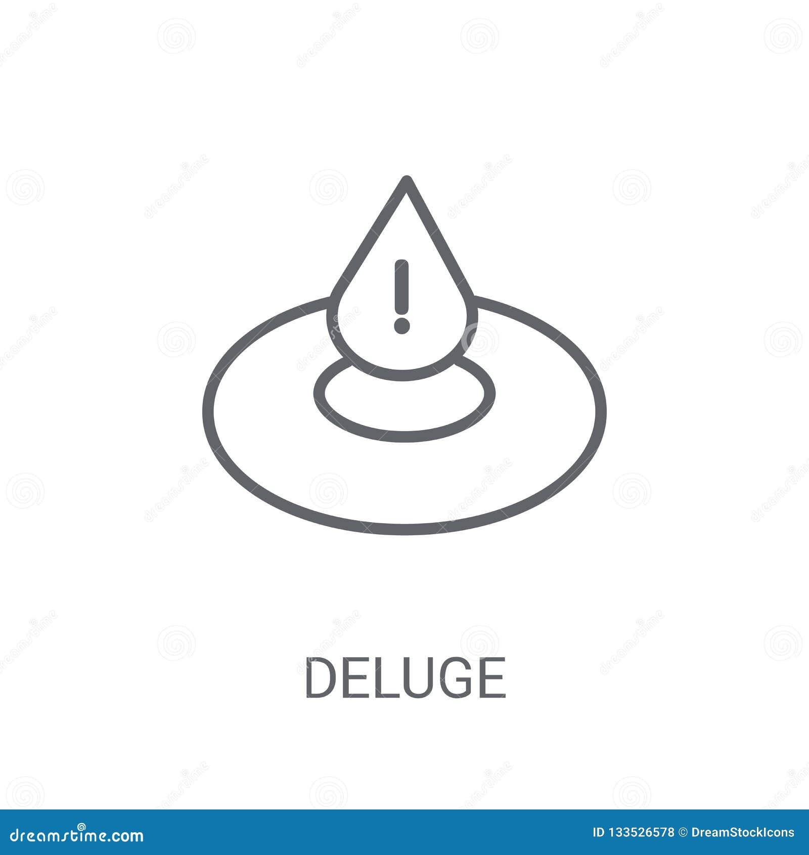 Deluge Icon  Trendy Deluge Logo Concept On White Background