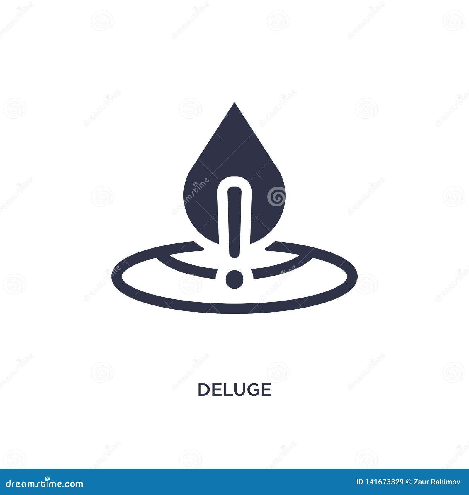 Deluge Icon On White Background  Simple Element Illustration