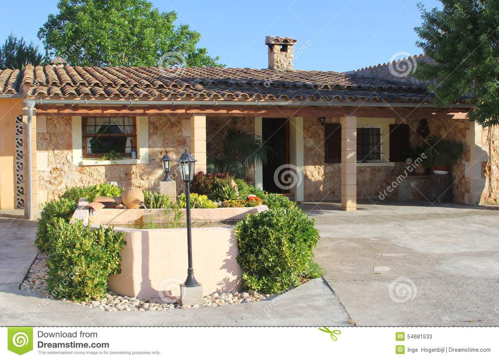 Luxury Mediterranean Home Mallorca Spain Stock Photo