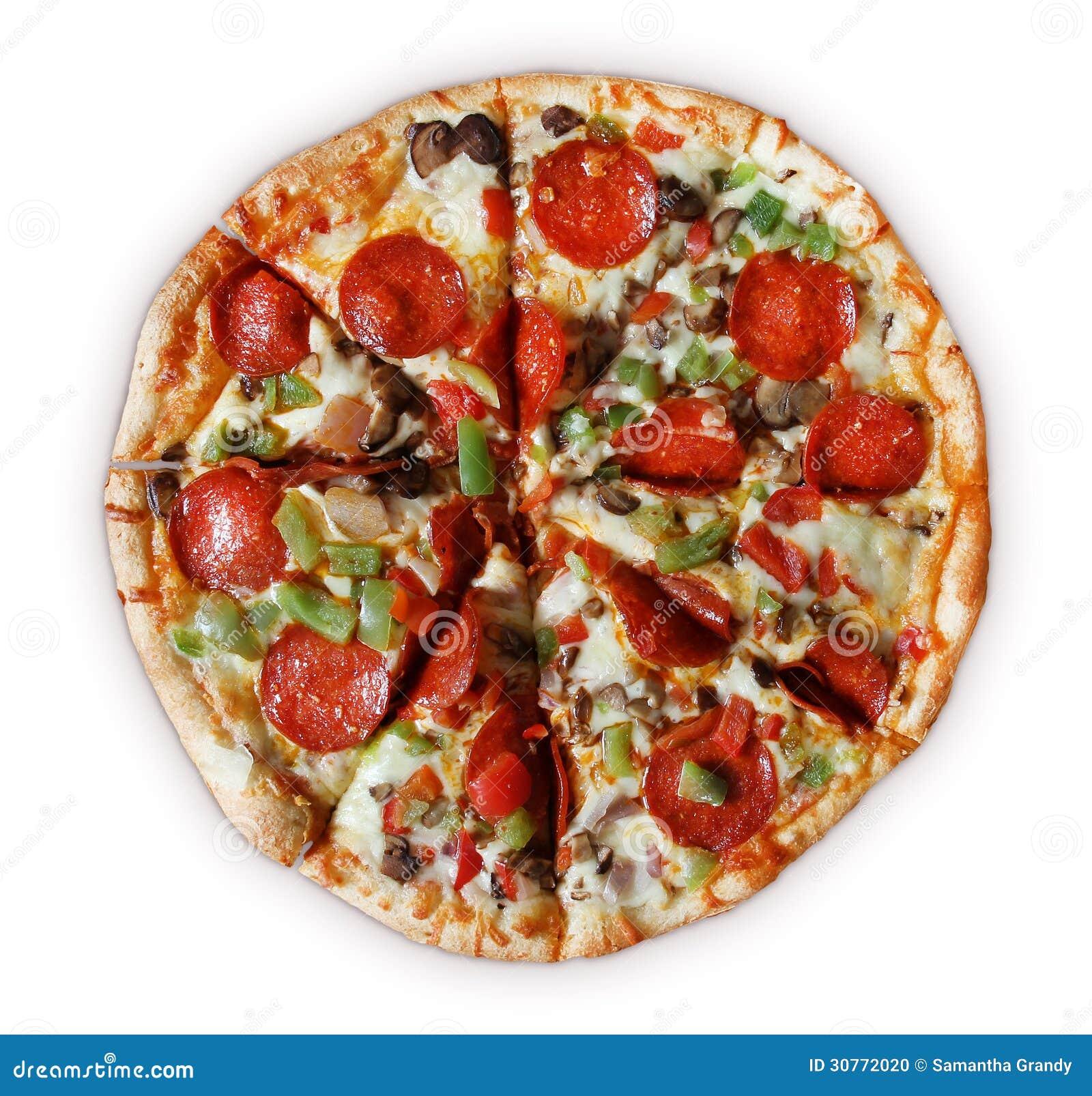 deluxe pizza geschnitten stockfoto bild 30772020. Black Bedroom Furniture Sets. Home Design Ideas