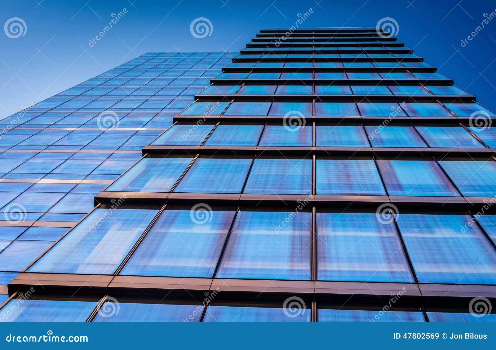 Dem WSFS-Bankgebäude in im Stadtzentrum gelegenem Wilmington oben betrachten, Del