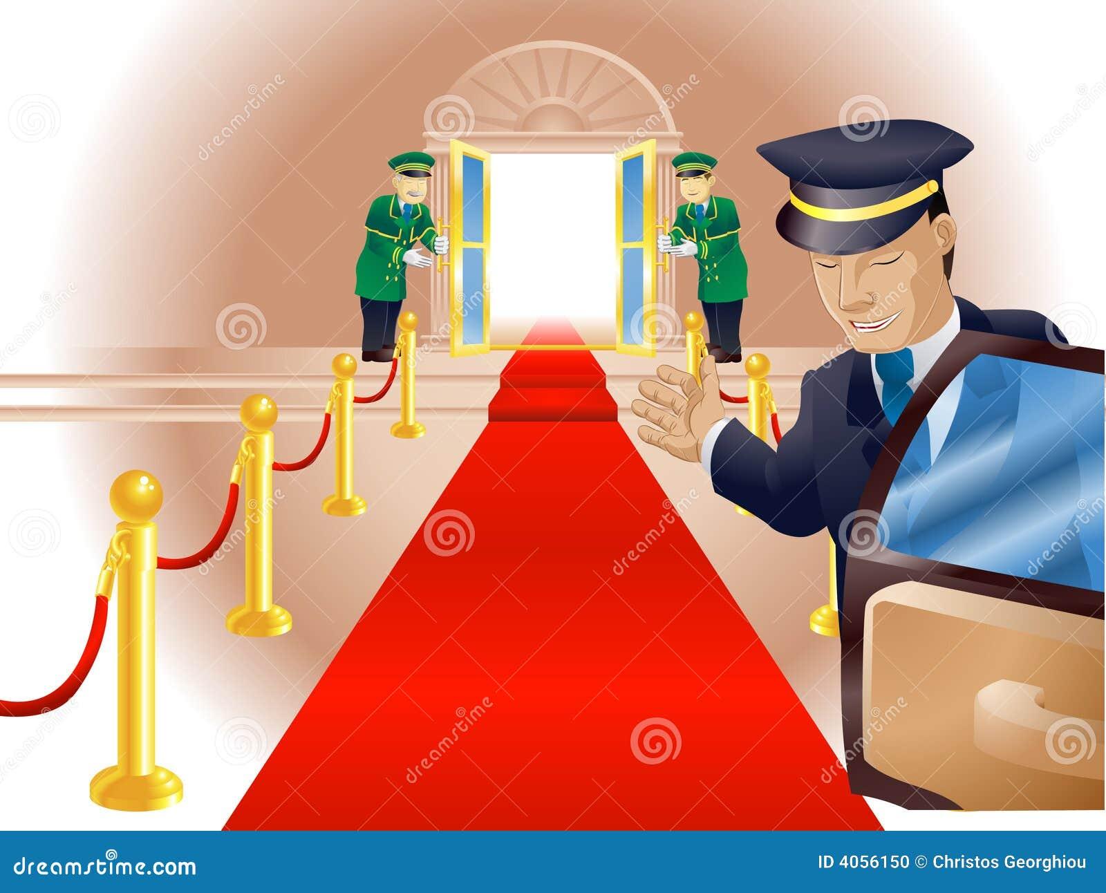 Demande de règlement de tapis rouge de VIP